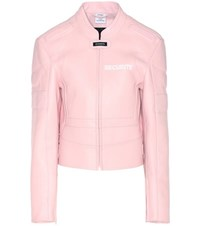 Vetements Exclusive To Mytheresa.Com Leather Jacket Pink