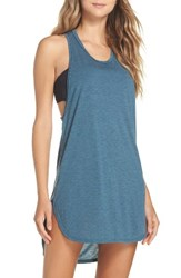 Leith Women's Racerback Cover Up Tank Dress Teal Abyss