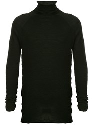 Forme D'expression High Neck Knit Sweater Black