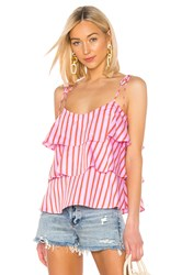 Mds Stripes Tiered Cami Pink