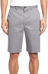 Nordstrom Shop Flat Front Supima Cotton Shorts Grey Shade