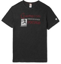 Todd Snyder Champion Printed Meange Cotton Jersey T Shirt Charcoa Charcoal