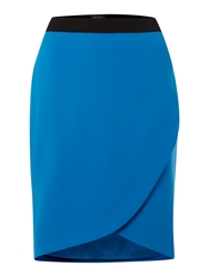Pied A Terre Wrap Skirt Blue