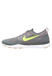 Nike Performance Free Train Versatility Sports Shoes Dark Grey Volt Pale Grey Lava Glow White Med Brown