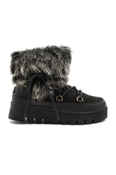 Australia Luxe Collective Casper Booties With Faux Fur Black