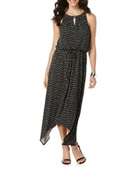Rafaella Petites Petite Asymmetrical Maxi Dress Black