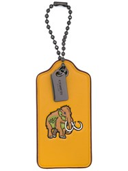 Coach Woolly Hang Tag Yellow And Orange