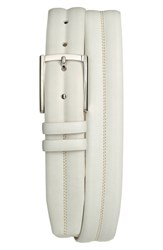 Men's Mezlan 'Diver' Leather Belt White
