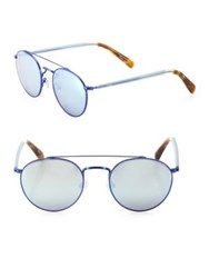 Toms Jarrett 51Mm Round Sunglasses Blue