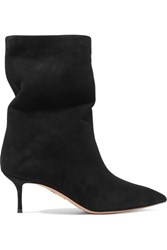 Aquazzura Very Boogie 60 Suede Ankle Boots Black