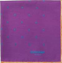Duchamp Dot Twill Pocket Square Purple