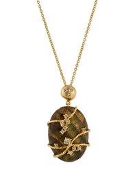 Indulgems Large Labradorite And Crystal Vine Pendant Necklace Women's