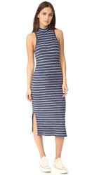 Splendid Striped Rib Dress Navy