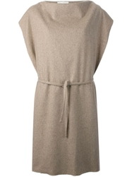 Stephan Schneider Oversized Belted Dress Nude And Neutrals