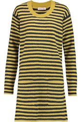 See By Chloe Striped Wool Mini Dress Yellow
