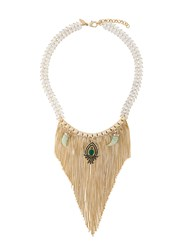 Iosselliani Burma Fringe Necklace Metallic