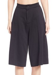 Y 3 Solid Wide Leg Shorts Black