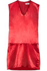 Jil Sander Satin Dress Red