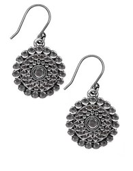 Lucky Brand Silvertone Tribal Drop Earrings