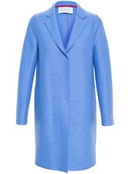 Harris Wharf London Wool Cocoon Coat Blue