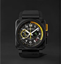 Bell And Ross Br 03 94 Rs17 42Mm Ceramic Rubber Chronograph Watch Black