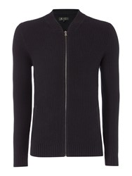 Label Lab Men's Chestnut Zip Through Cardigan Black