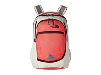 The North Face Pivoter Calypso Coral Emboss Deep Garnet Red Backpack Bags Beige