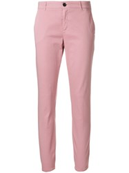 Department 5 Classic Skinny Trousers Pink And Purple