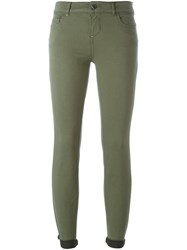 Twin Set Stretch Skinny Trousers Green