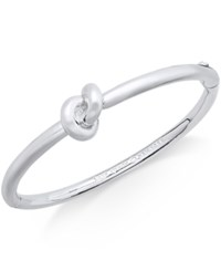 Kate Spade New York Silver Tone Love Knot Hinged Bangle Bracelet