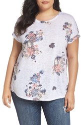 Vince Camuto Plus Size Women's Two By Bouquet Whimsy Burnout Tee