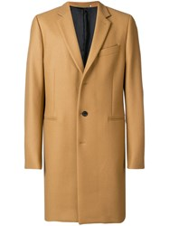 Paul Smith Ps By Single Breasted Coat Brown