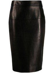 Tom Ford Mid Length Pencil Skirt Black