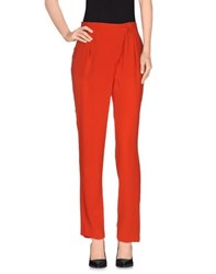 Tibi Trousers Casual Trousers Women Red