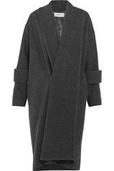 Chalayan Oversized Wool Blend Coat Dark Gray