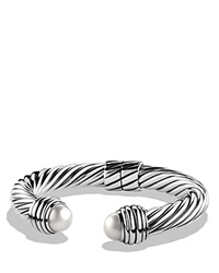 David Yurman Cable Classics Bracelet With Pearls Silver White