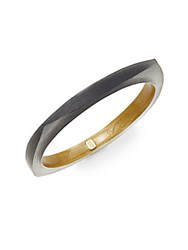 Alexis Bittar Lucite Square Bangle Black