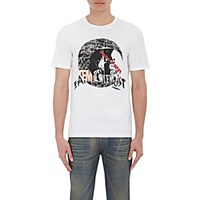 Maison Martin Margiela Men's Rock And Roll Print T Shirt White