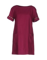 Aquascutum London Short Dresses Garnet