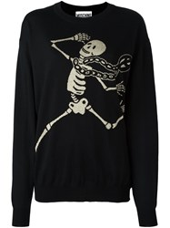Moschino Skeleton Intarsia Jumper Black