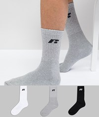 Russell Athletic 3 Pack Sports Sock Multi