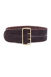 Linea Pelle Woven Braided Waist Belt Brown