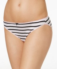 Charter Club Pretty Cotton Bikini Only At Macy's Pink And Grey Stripe