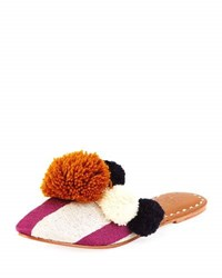 Figue Iris Striped Pompom Mule Multi