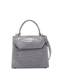 Nancy Gonzalez Medium Crocodile Lady Bag White