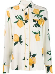 Chinti And Parker Floral Patterned Shirt Neutrals
