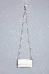 Forever 21 Faux Patent Leather Crossbody White
