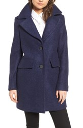 Kenneth Cole New York Wool Blend Boucle Coat Grape