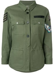 Zadig And Voltaire Embroidered Military Jacket Green