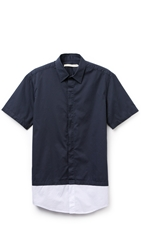 Shades Of Grey 2 Layer Shirt Navy